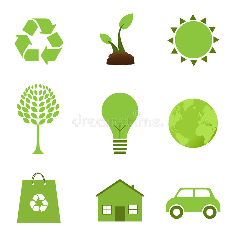 Download Ecology icons stock vector. Illustration of energy, green - 14884379