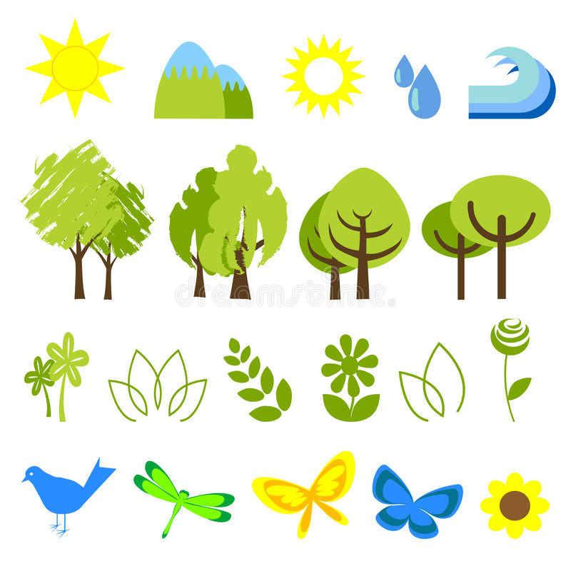 Download Ecology Icons 2 Stock Image - Image: 8303301