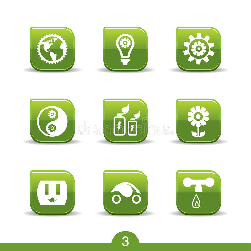 Ecology icons 3..smooth series royalty free illustration
