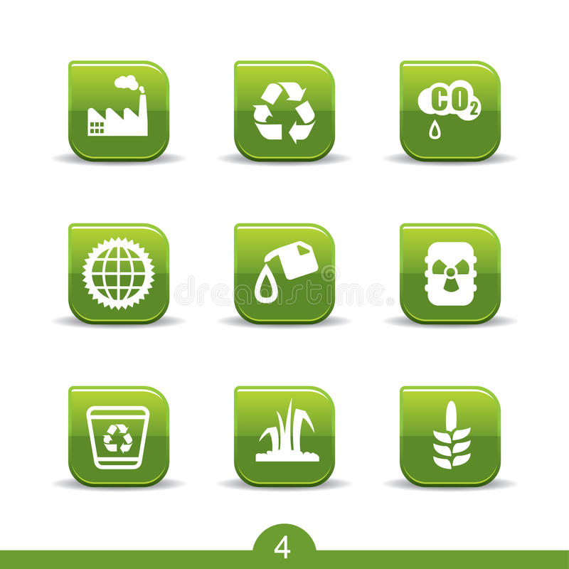 Ecology icons 4..smooth series royalty free illustration