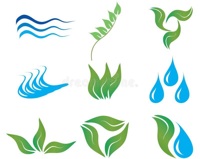 Ecology icons royalty free stock photos
