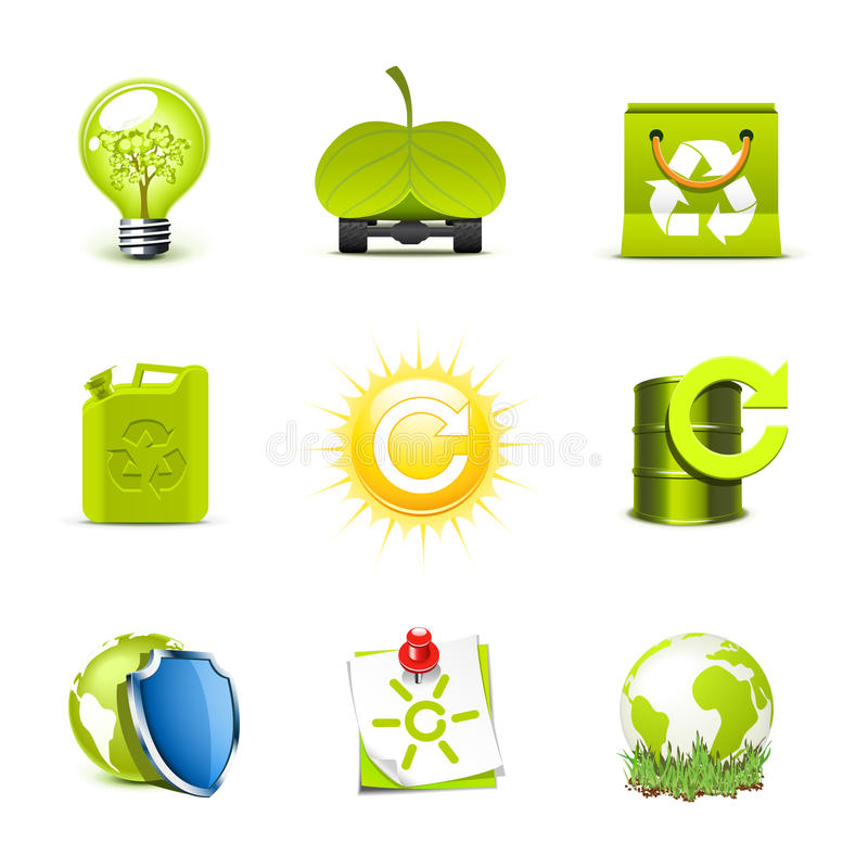 Ecology icons | Bella series vector illustration