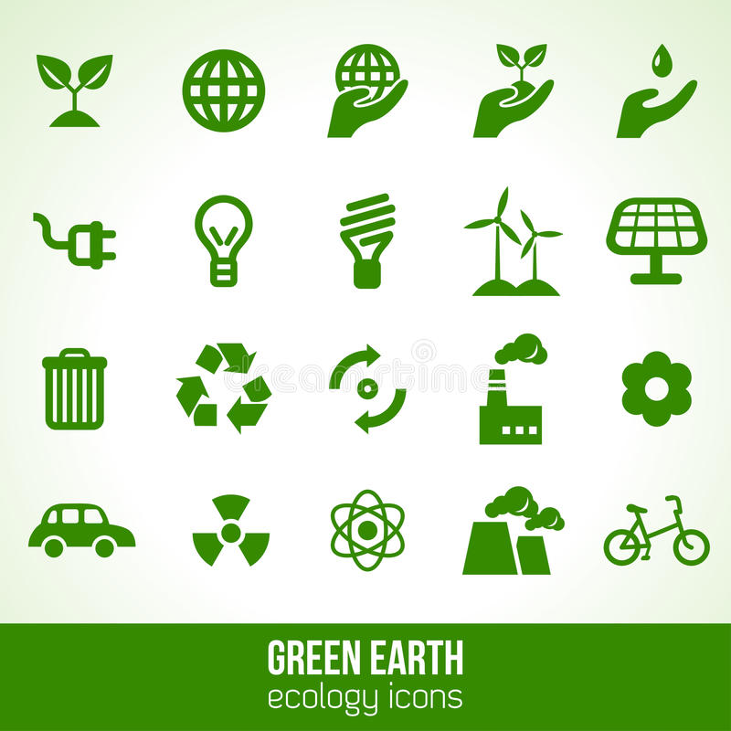 Ecology icons isolated on white. Vector vector illustration
