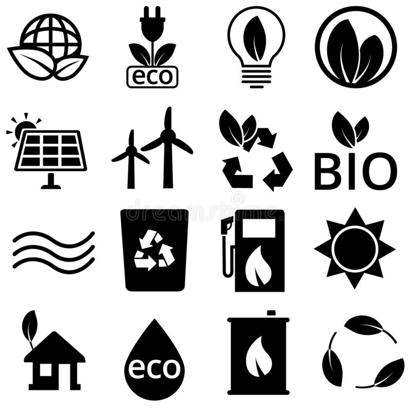 Ecology Icons vector set. Eco icon. green energy illustration symbol collection. vector illustration