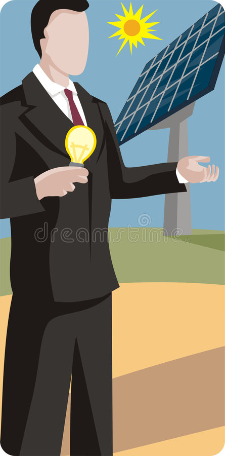 Cheap But Energy Efficient House Design: Cheap Electricity Stock Illustration. Illustration Of