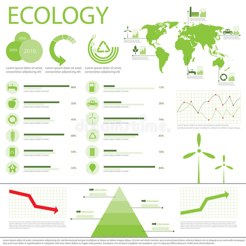 Download Ecology Info Graphics Collection Stock Vector - Image: 26928116
