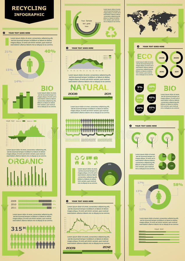 Ecology infographic. Ecology detail infographic with charts