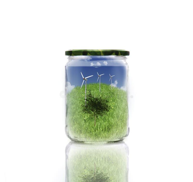 Ecology In Jar Royalty Free Stock Photos