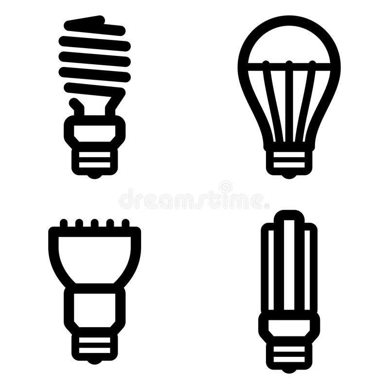 Ecology lamp pictograms