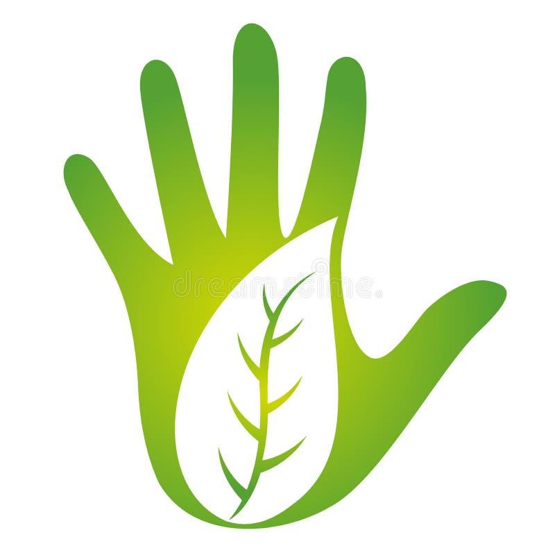Ecology leaf design. Illustration of ecology leaf design isolated on white background royalty free illustration