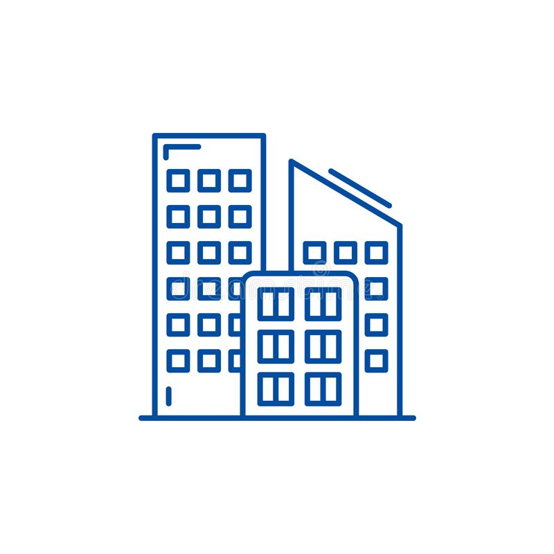 Ecology line icon concept. Ecology flat  vector symbol, sign, outline illustration. stock illustration