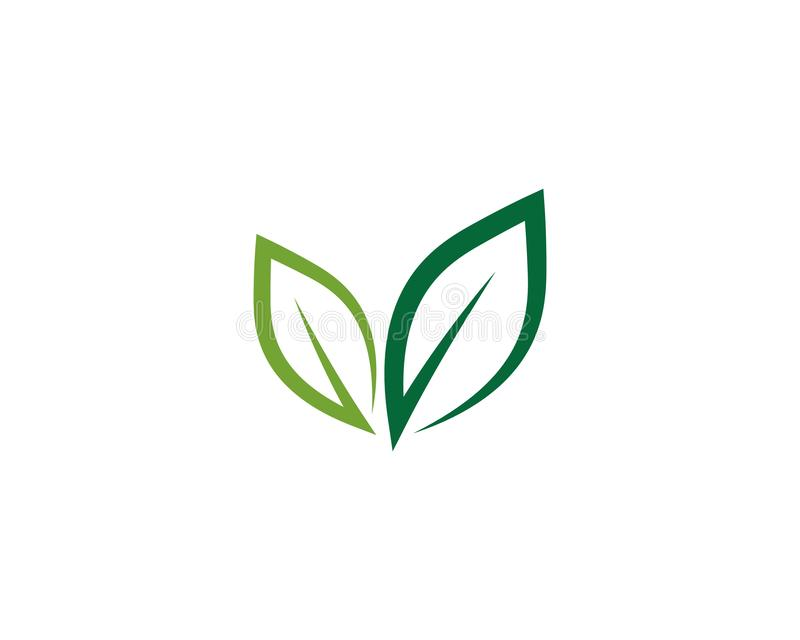 Ecology logo template vector icon illustration. Logos of green leaf ecology nature element vector icon, energy, power, electricity, technology, bulb, lamp stock illustration