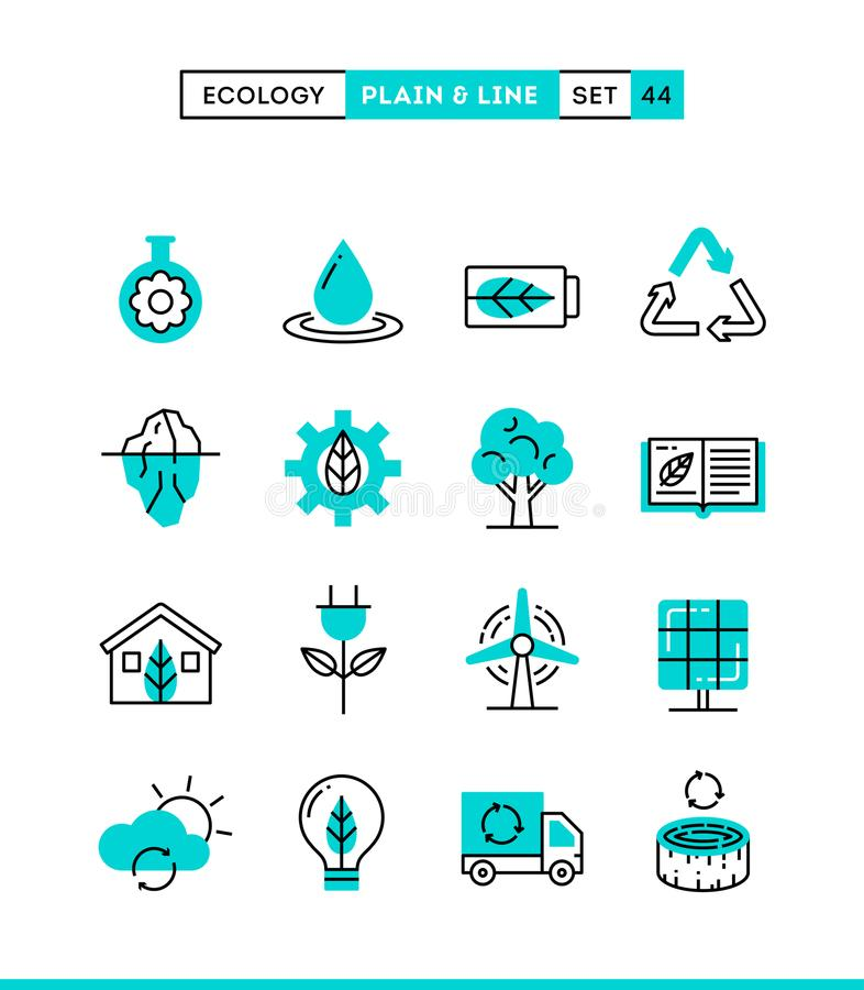 Ecology, nature, clean energy, recycling and more. royalty free illustration