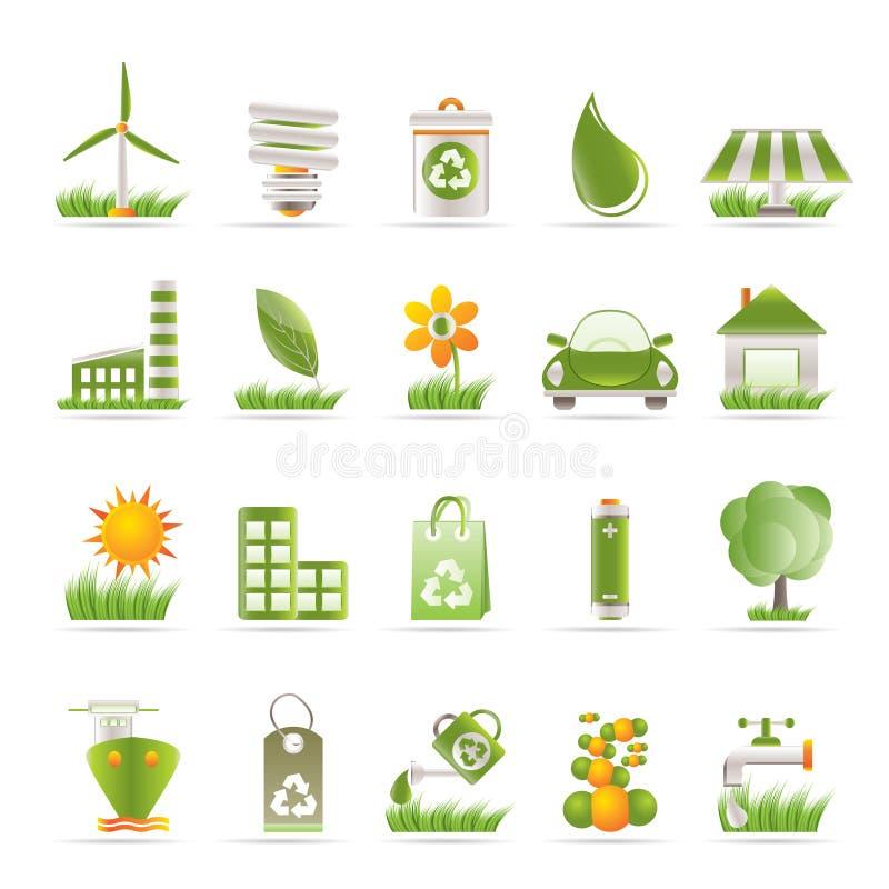Ecology and nature icons. Icon set royalty free illustration