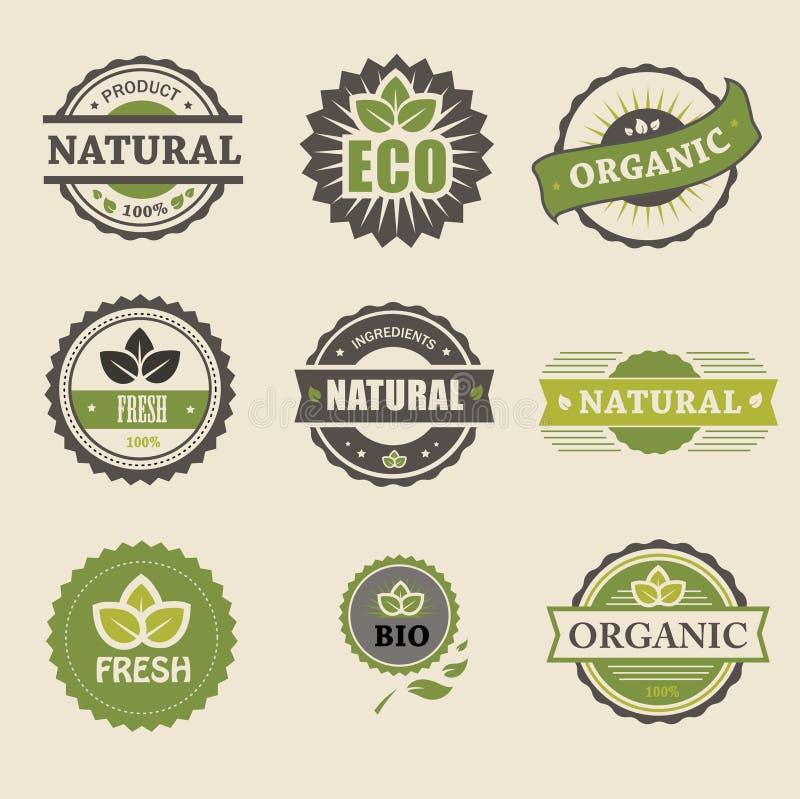 Ecology, organic icon set. Eco-icons royalty free illustration