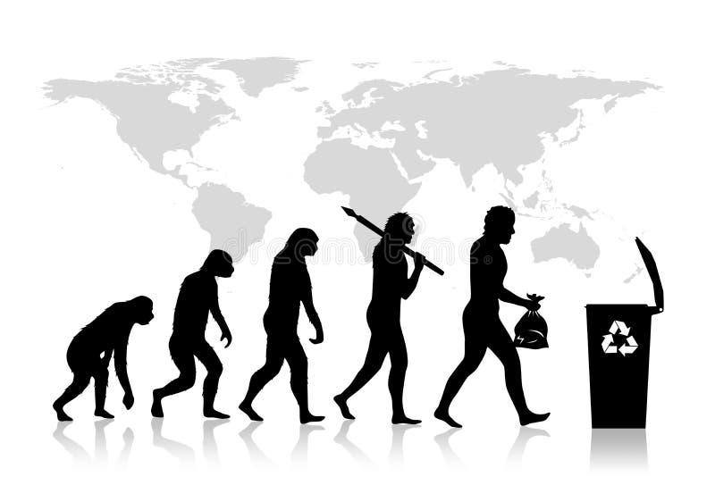 Ecology - Recycle evolution stock illustration