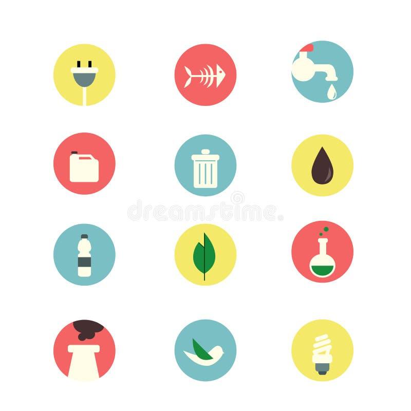 Ecology set icons royalty free stock photography