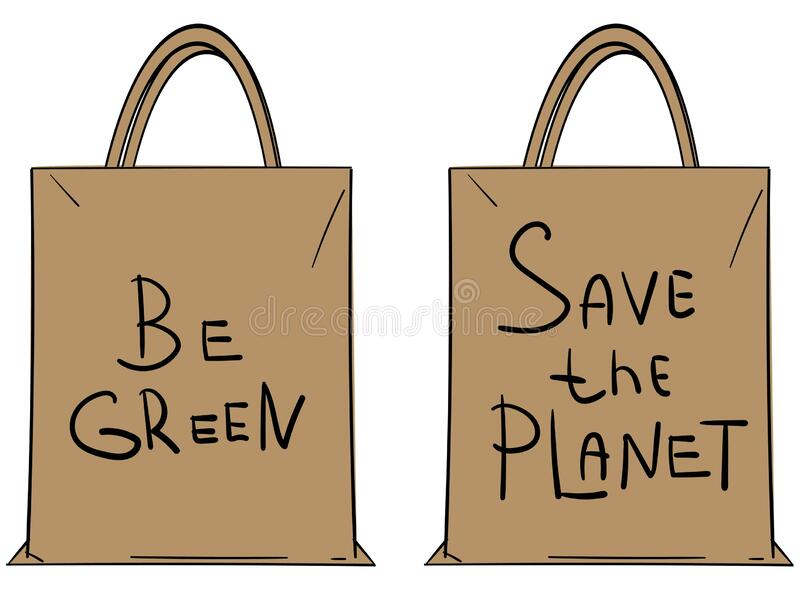 Save Earth Paper Bag Stock Illustrations – 487 Save Earth Paper ...