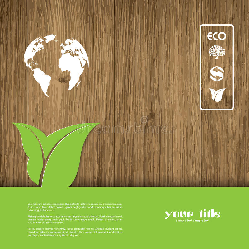 Ecology signs and symbols stock illustration