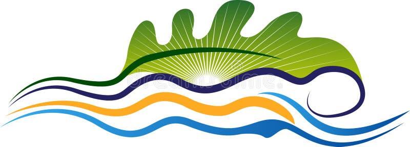 ecology spa massageembleem stock illustratie
