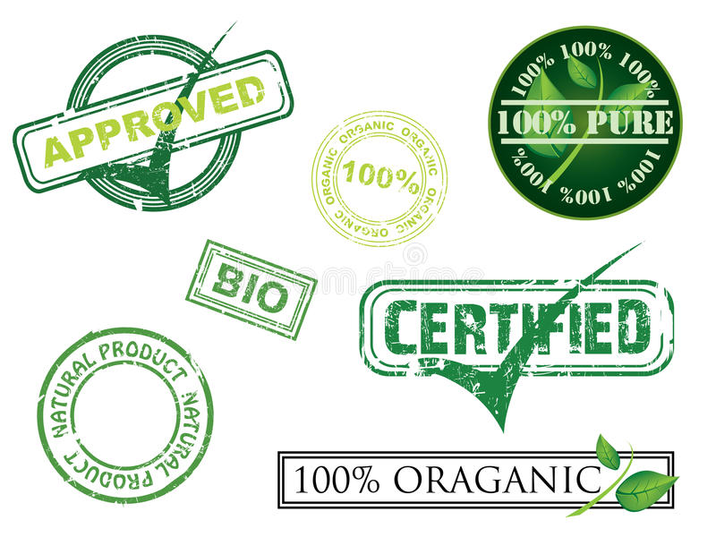 Ecology Stamps Royalty Free Stock Photography