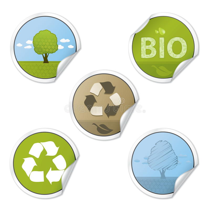 Ecology Stickers vector illustration