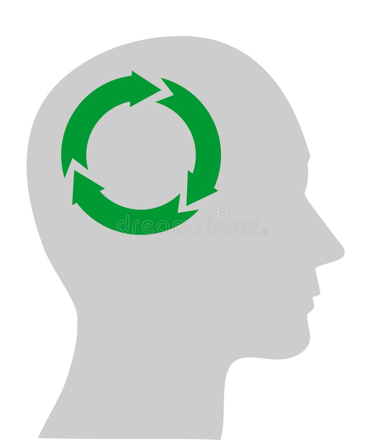 Ecology Symbol In Human Head Stock Photography