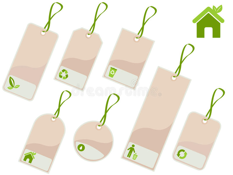 Download Ecology tags stock vector. Image of button, folio, current - 10147624