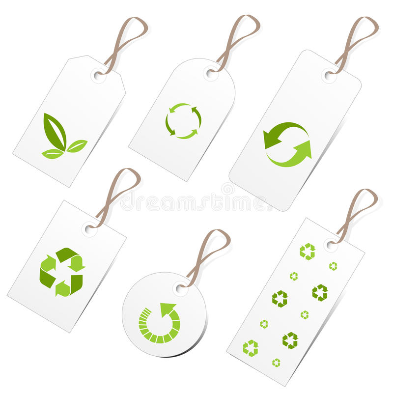 Ecology tags royalty free illustration