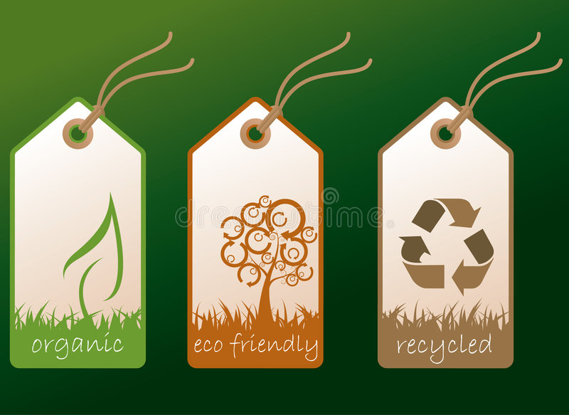 Ecology tags stock photos
