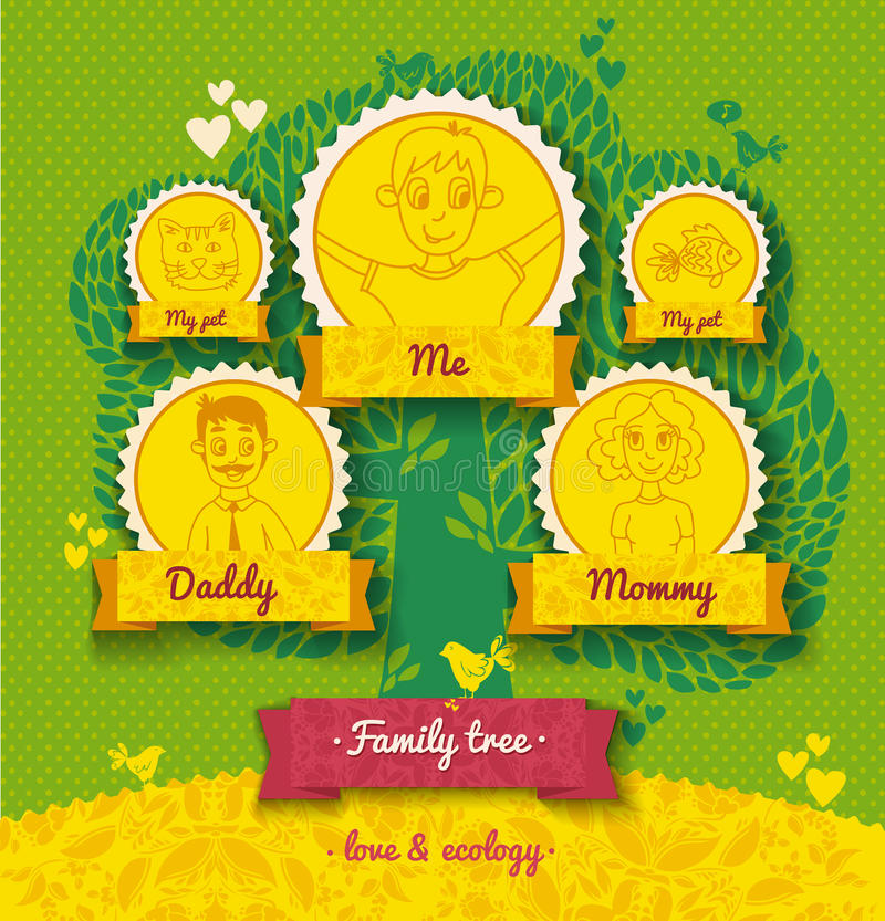 Ecology Template For Family Tree Stock Illustration Illustration