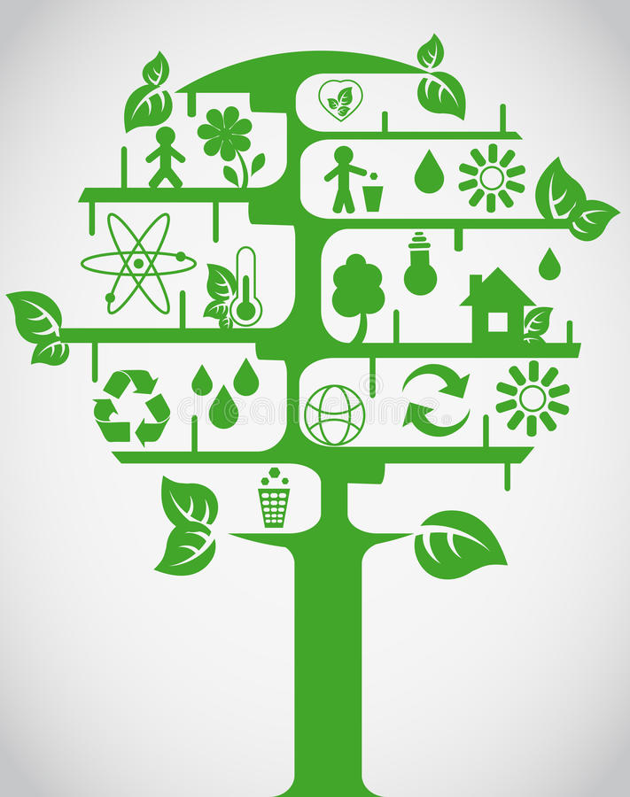 Download Ecology tree stock vector. Image of icons, alternative - 19541954