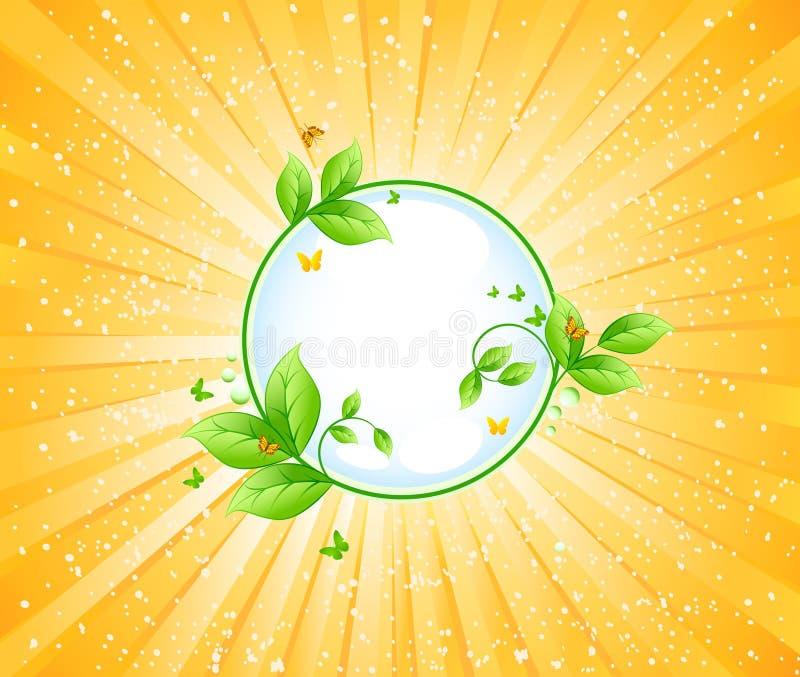 Ecology vector design. Ecology art design vector design stock illustration