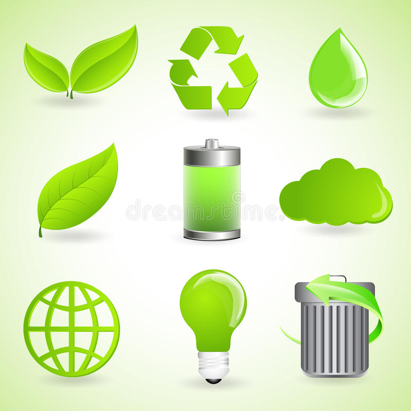 Ecology Vector Icons vector illustration