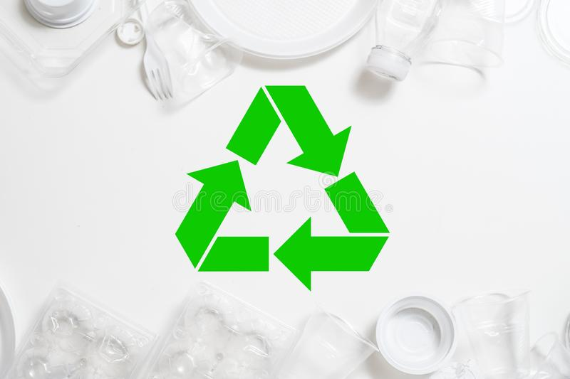 Ecology waste management recycling plastic dispose royalty free stock images
