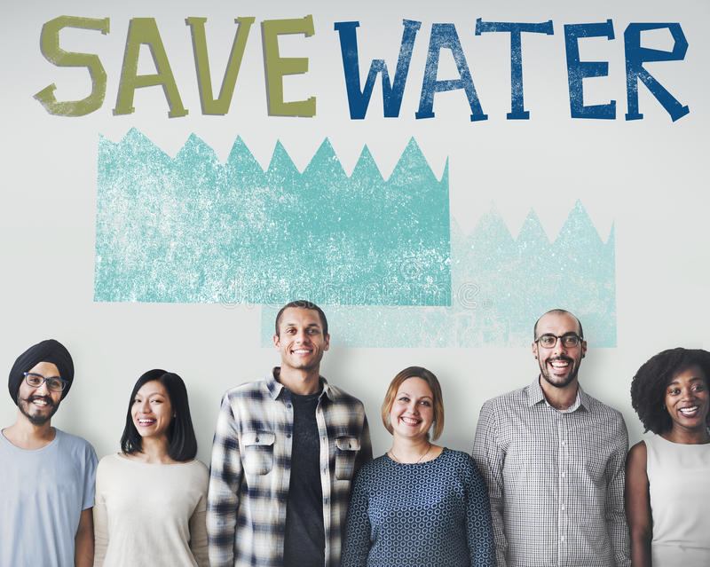 Ecology Water Conservation Sustainability Nature Concept stock image