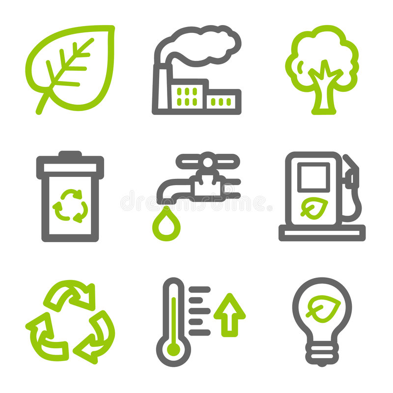 Ecology web icons vector illustration