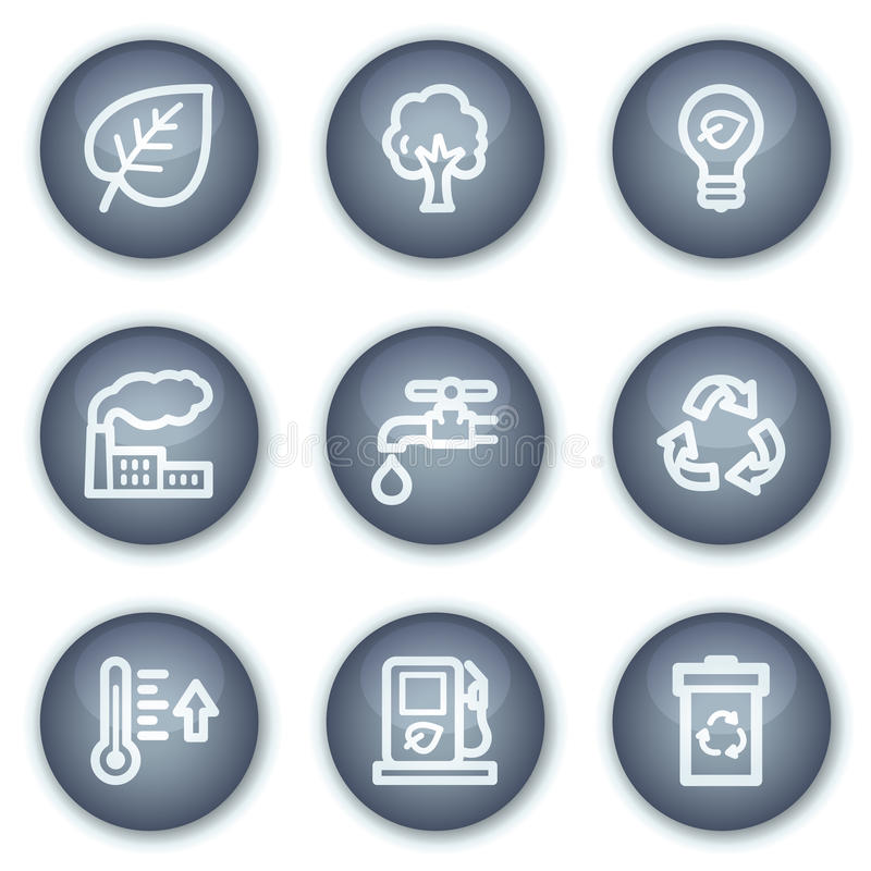 Download Ecology Web Icons Set 1, Mineral Circle Buttons Stock Vector - Image: 12567408