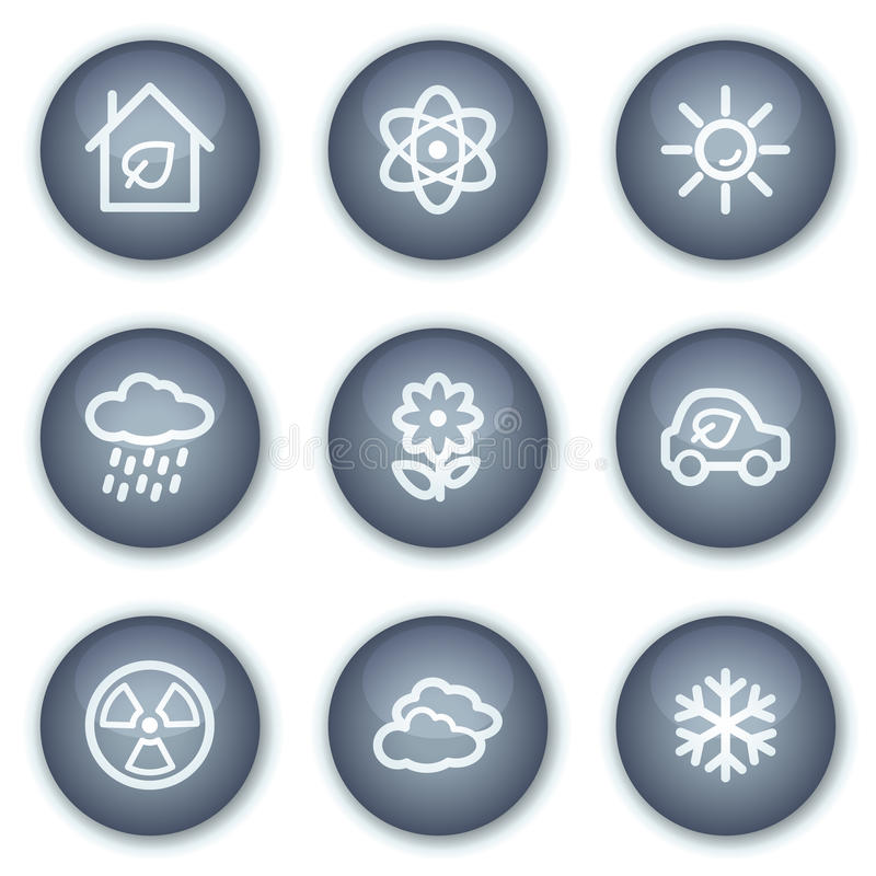 Download Ecology Web Icons Set 2, Mineral Circle Buttons Stock Vector - Image: 12567411