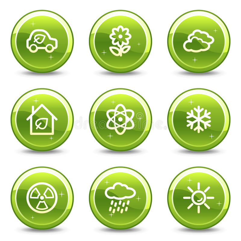 Download Ecology web icons set stock vector. Illustration of symbol - 9313929