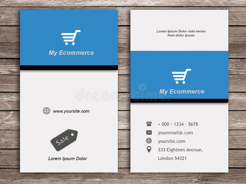 Ecommerce Business Card stock illustration. Illustration of business ...