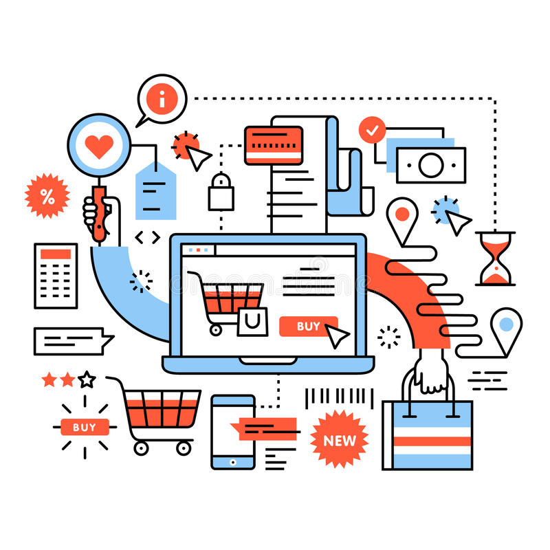 Ecommerce business concept stock illustration