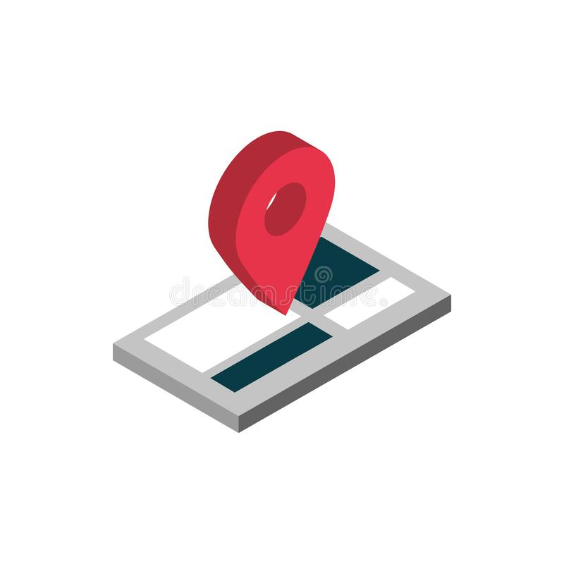Ecommerce business internet mobile gps navigation destination icon 皇族释放例证