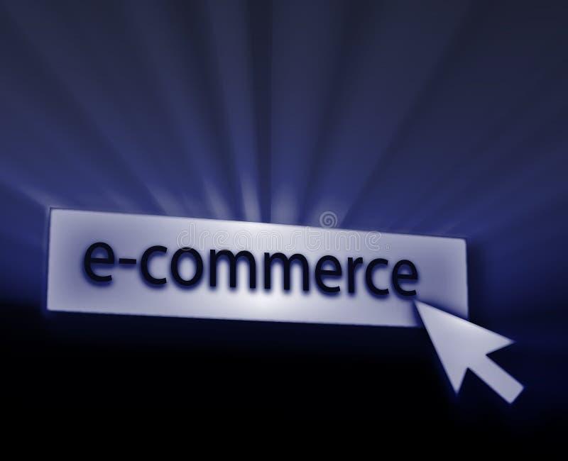 Ecommerce button. Illustration clicking on web technology vector illustration