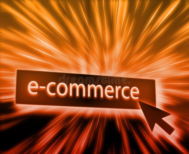 Ecommerce button. Illustration clicking on web technology stock illustration