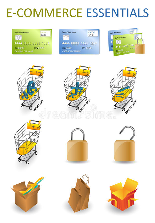 Free ECommerce Essentials Royalty Free Stock Photos - 10069068