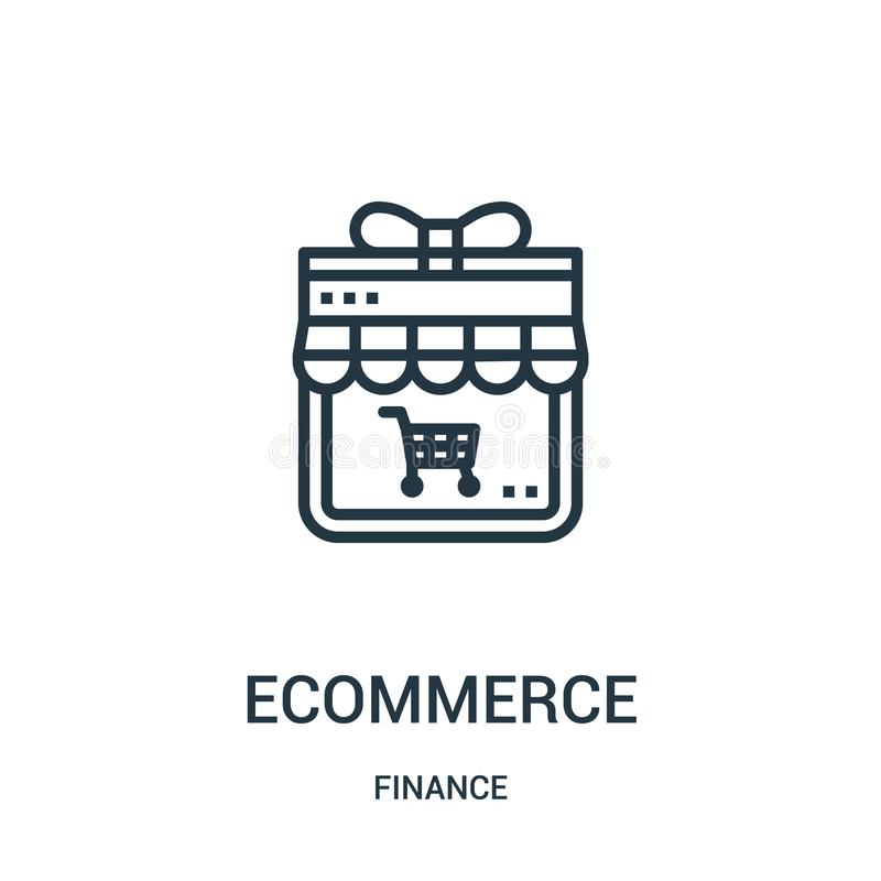 ecommerce icon vector from finance collection. Thin line ecommerce outline icon vector illustration. Linear symbol for use on web stock illustration