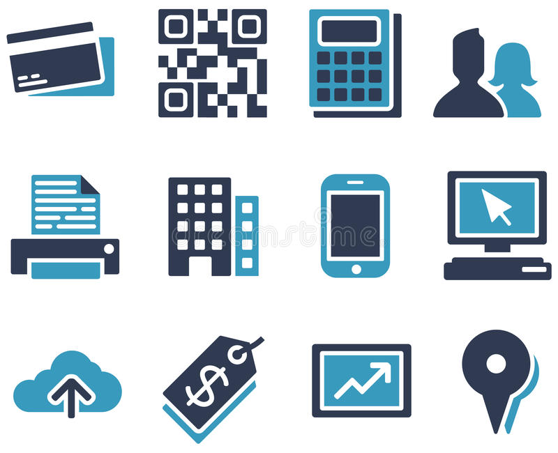 ECommerce Icons. Collection of eCommerce and web icons stock illustration