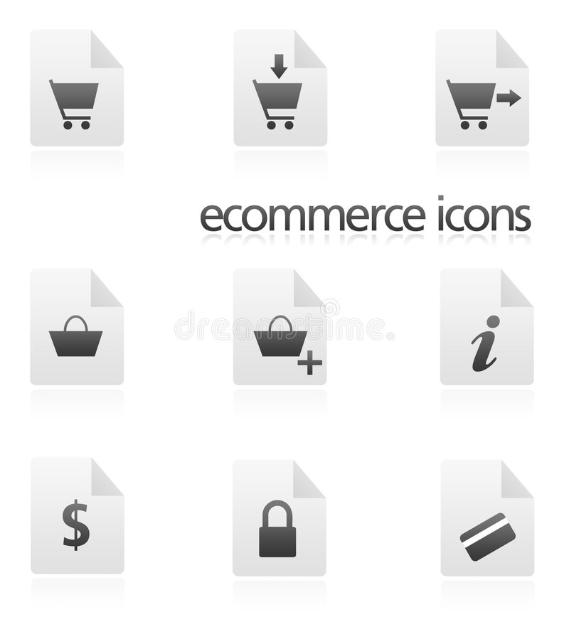Ecommerce Icons. Set of 9 ecommerce/internet icons royalty free illustration