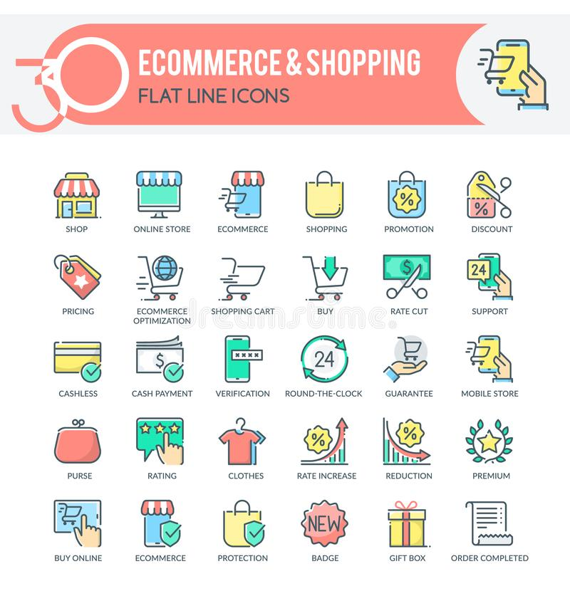 Ecommerce Icons vector illustration
